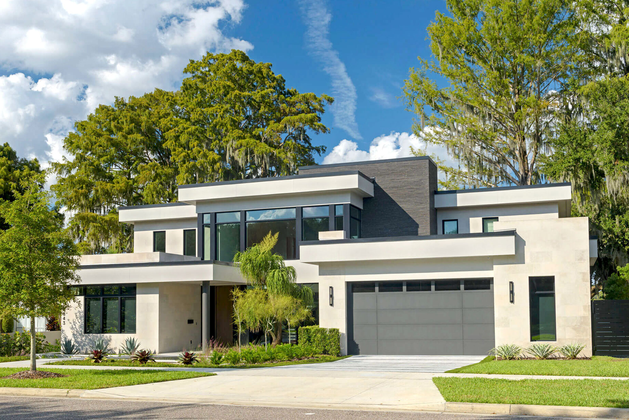 Majestic Modern Home front exterior shot